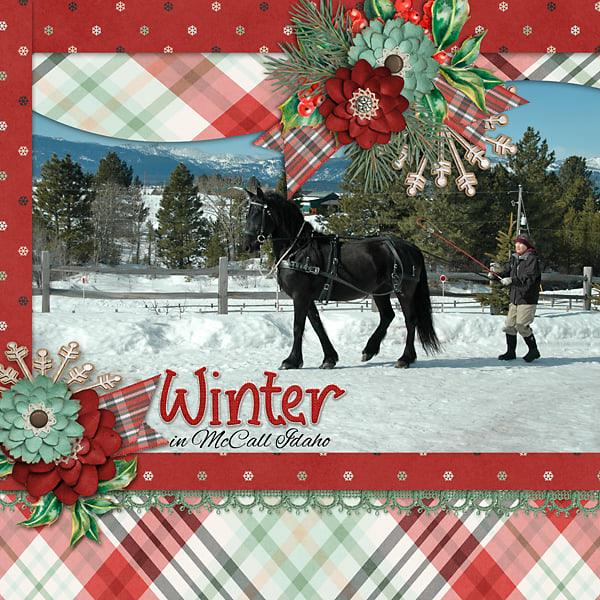 CT Layout using Farmhouse Winter by Connie Prince