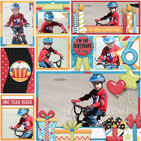 Birthday Wishes Boy Digital Scrapbooking Kit View Detailed Images 8