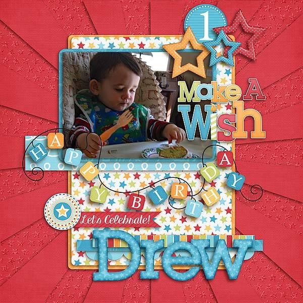 Gingerscraps Kits Birthday Wishes Boy Digital