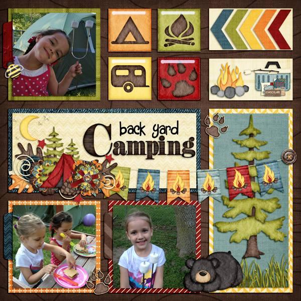 Gingerscraps Kits Happy Camper Digital Scrapbook Kit