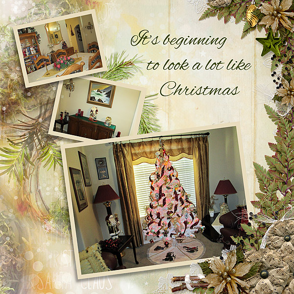 Layout created using Deck the Halls by Snickerdoodle Designs