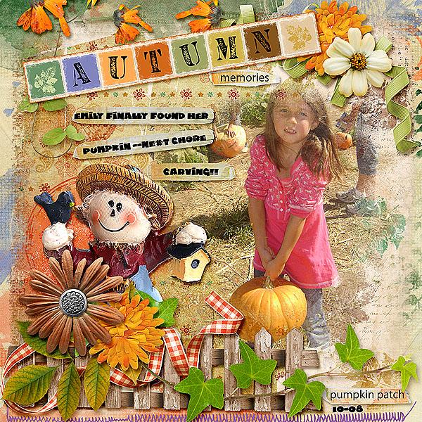 Playful Autumn Layout by Deanna