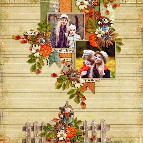 Playful Autumn Layout by Glori