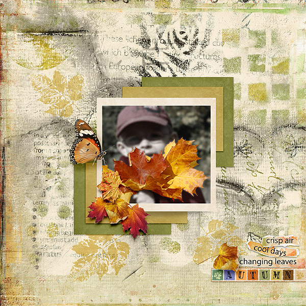 Playful Autumn Layout by Kythe