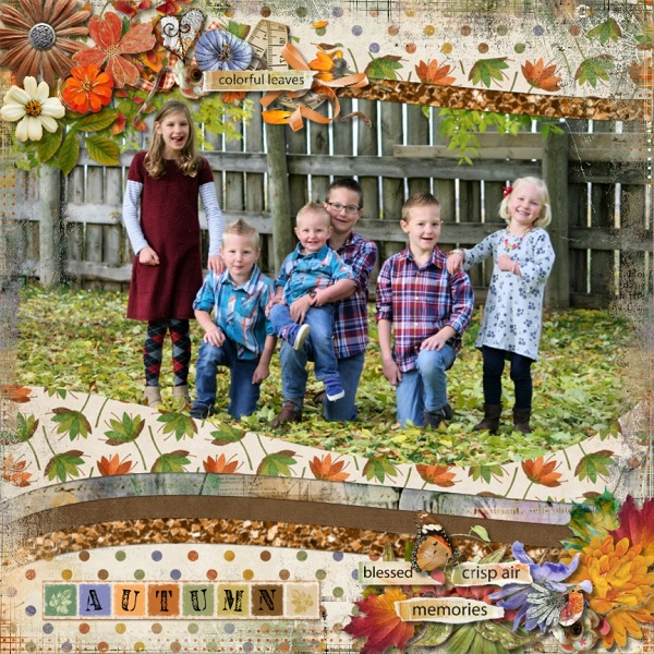 Playful Autumn Layout by Rochelle