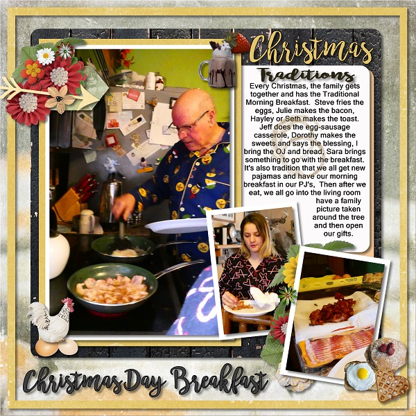 Layout using Snickerdoodle Designs Cracked Egg Kit
