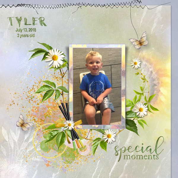 This is Me August Layout by Cathy