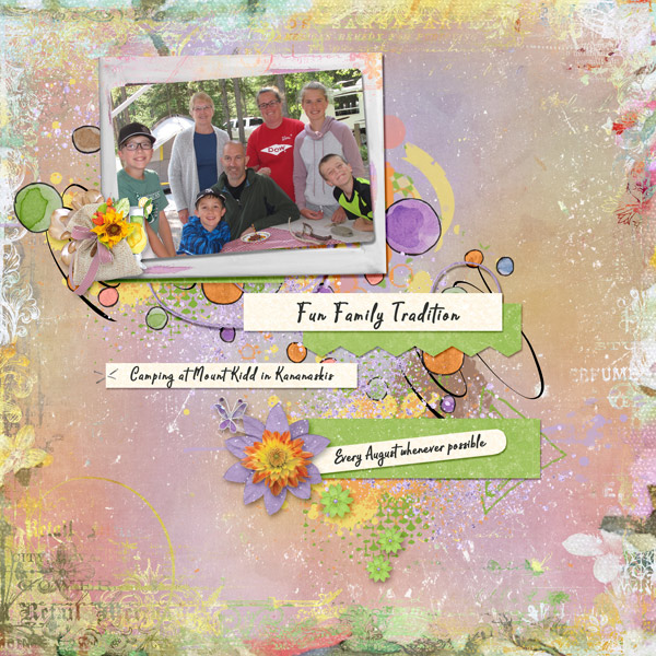 This is Me August Layout by Renee