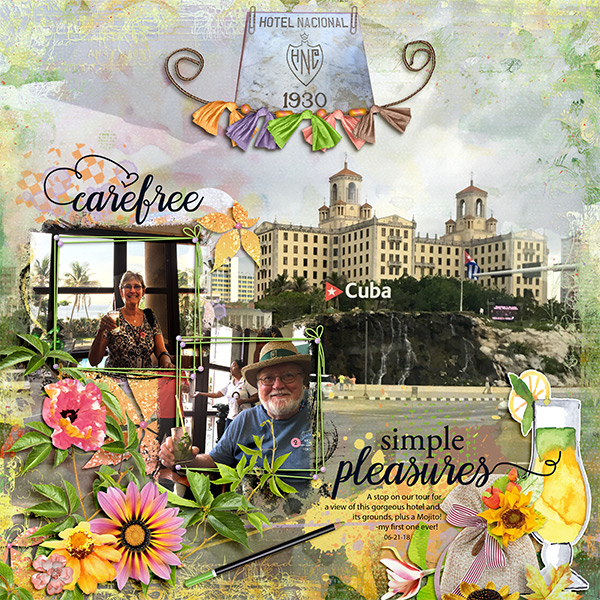 This is Me August Layout by MsBrad