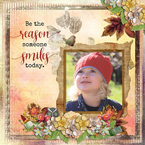 This is Me November Layout by CTM Chrissy