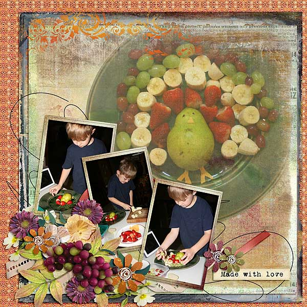 This is Me November Layout by CTM Linda