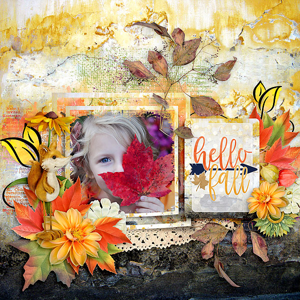 This is Me October Layout by CTM Glori