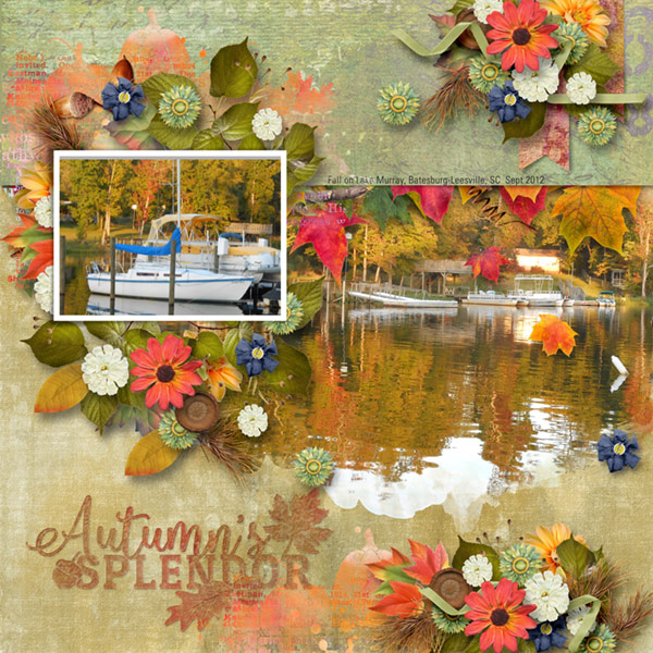 This is Me October Layout by CTM Cathy
