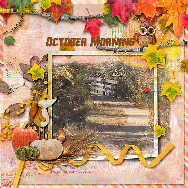 This is Me October Layout by CTM Deanna
