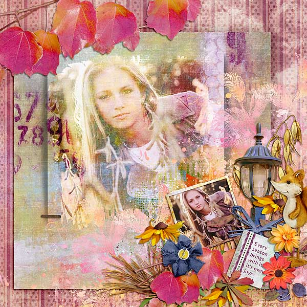 This is Me October Layout by CTM Linda