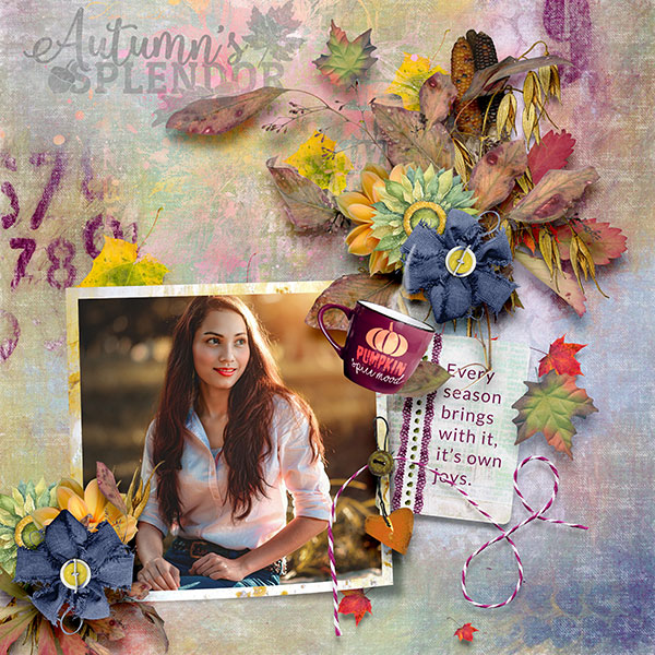 This is Me October Layout by CTM Norma