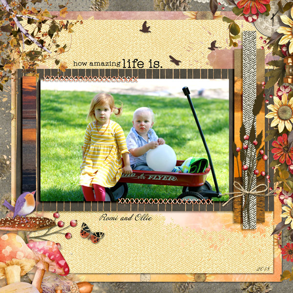 Harvest Sunset Layout by Chrissy