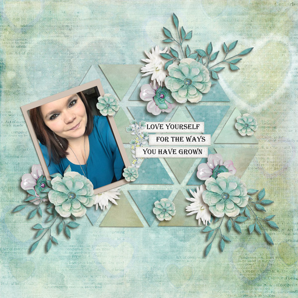 Love Yourself Layout by Cathy
