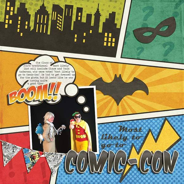 Free Comic Book Day Banner: GingerScraps :: Kits :: Super Heroes