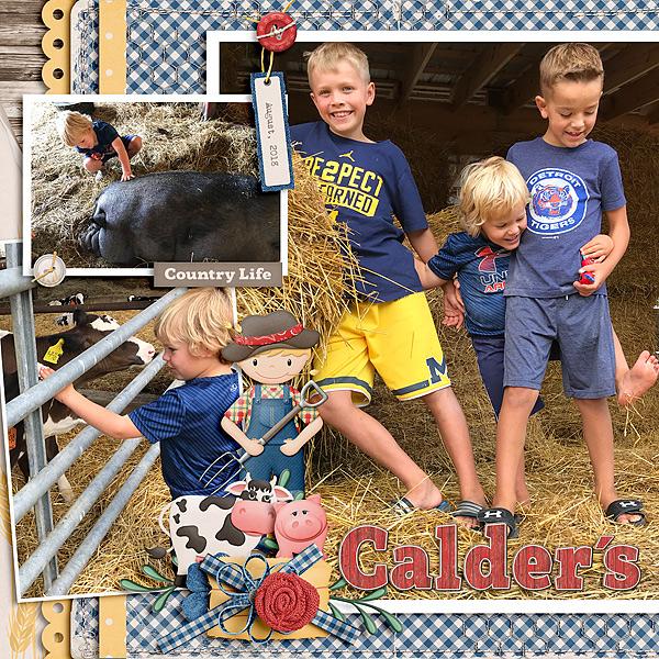 Country Bump Kin Boutique Home: GingerScraps :: Kits :: Country Bumpkin Page Kit
