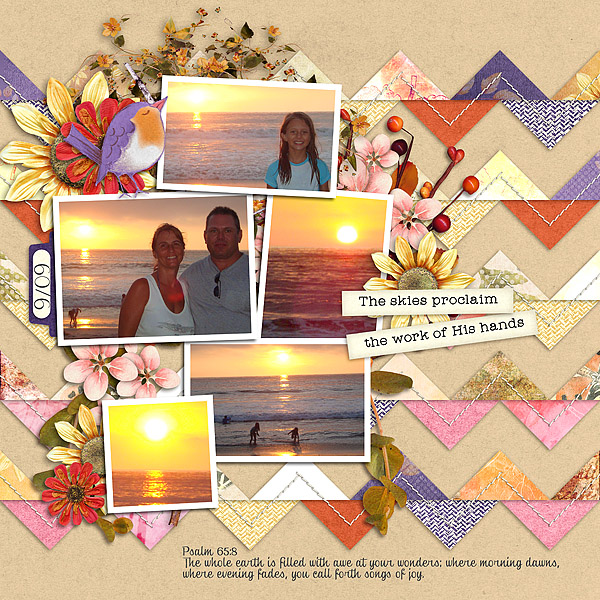 Harvest Sunset Layout by Deanna