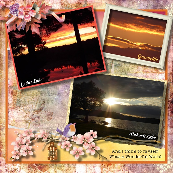Harvest Sunset Layout by Laureen