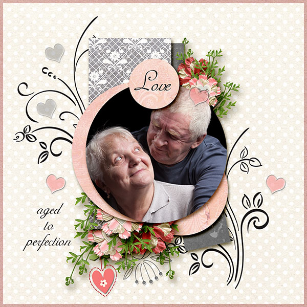 Follow Your Heart Layout; Kit by Snickerdoodle Designs