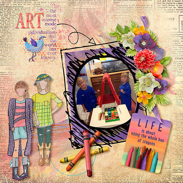Color Outside the Lines Layout by Bright Eyes