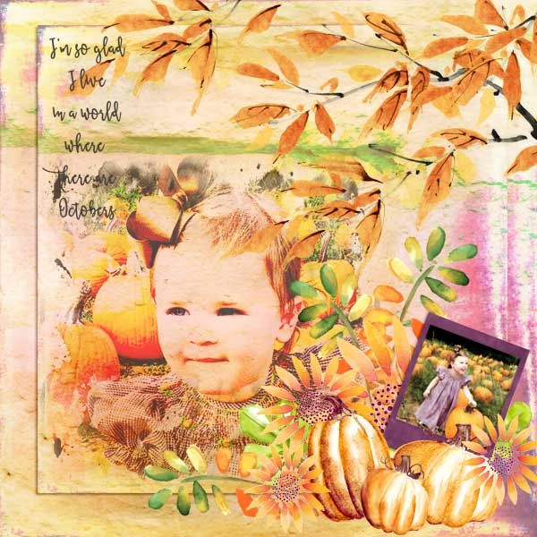 Painted Autumn Layout by Linda