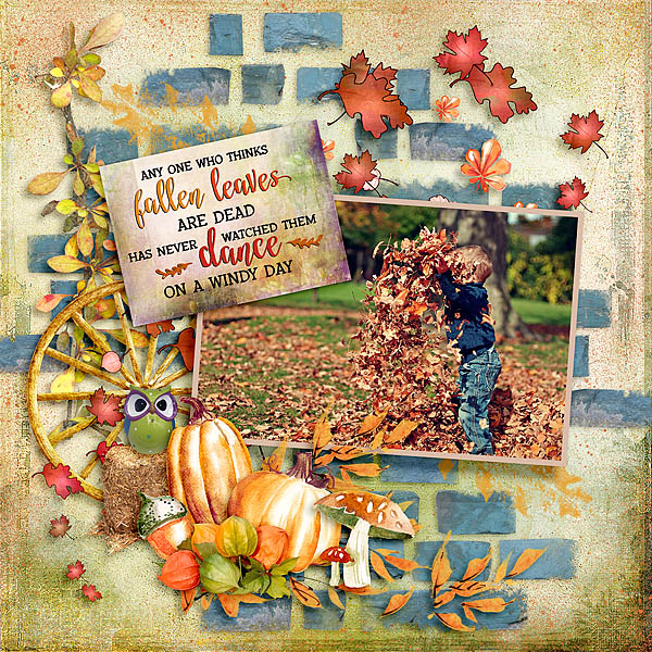 Painted Autumn Layout by Bright Eyes