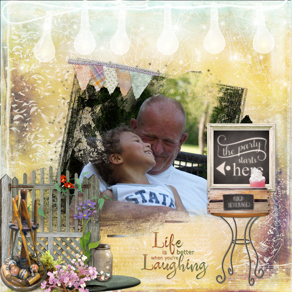 Backyard Party Layout by Cathy