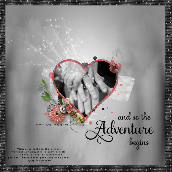 Celebrate Life Layout; Kit by Snickerdoodle Designs