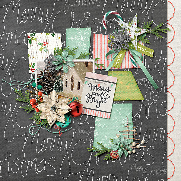 Christmas Memories by Snickerdoodle Designs: Layout by Jenni