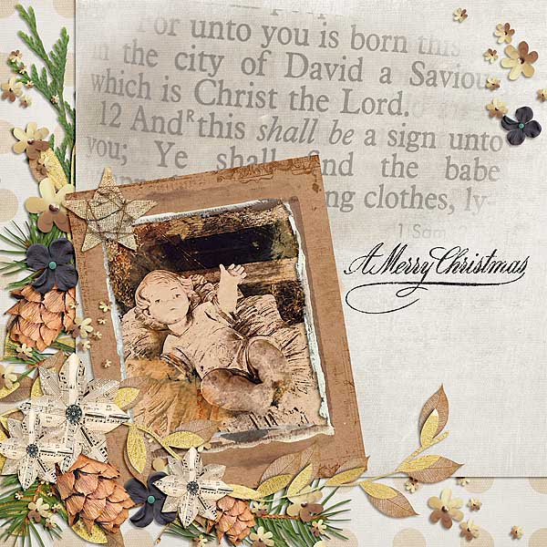 Christmas Memories by Snickerdoodle Designs: Layout by Linda