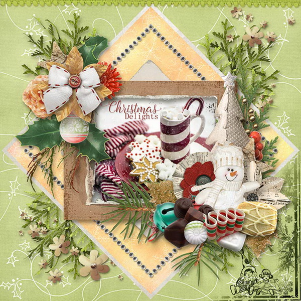 Christmas Memories by Snickerdoodle Designs: Layout by Kabra