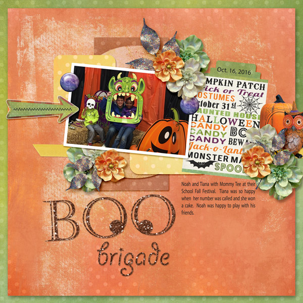 Trick or Treat Layout by Cathy