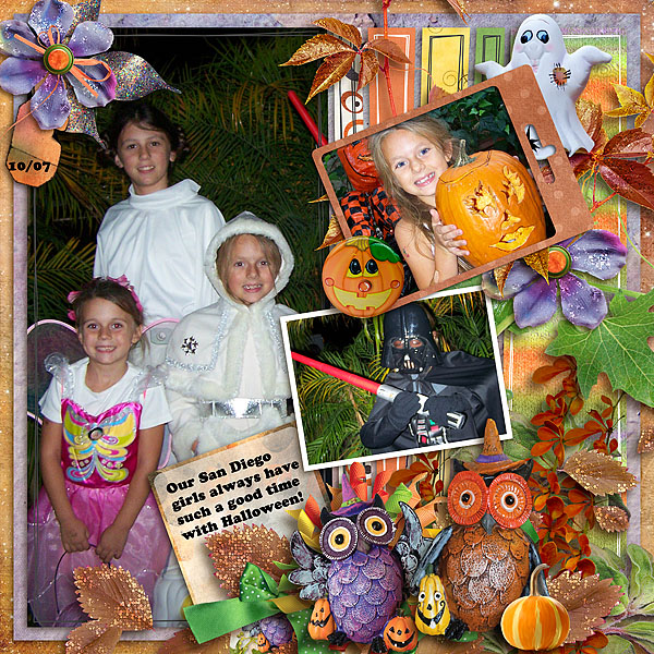 Trick or Treat Layout by Deanna