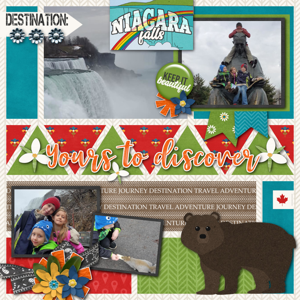 CT Layout using Travelogue Ontario Canada by Connie Prince