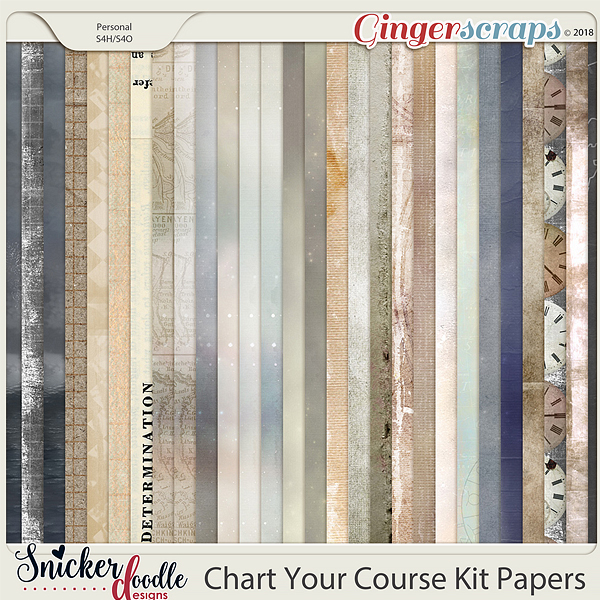 Chart Your Course Kit Papers by Snickerdoodle Designs