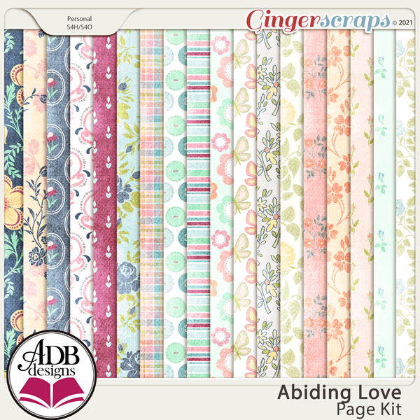 Abiding Love Digital Scrapbooking Collection by ADB Designs