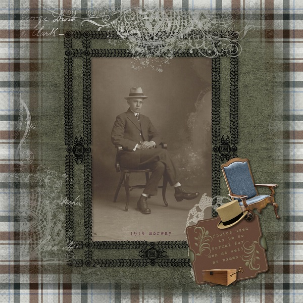 Layout by Denise - Men in Top Hats Collection by ADB Designs