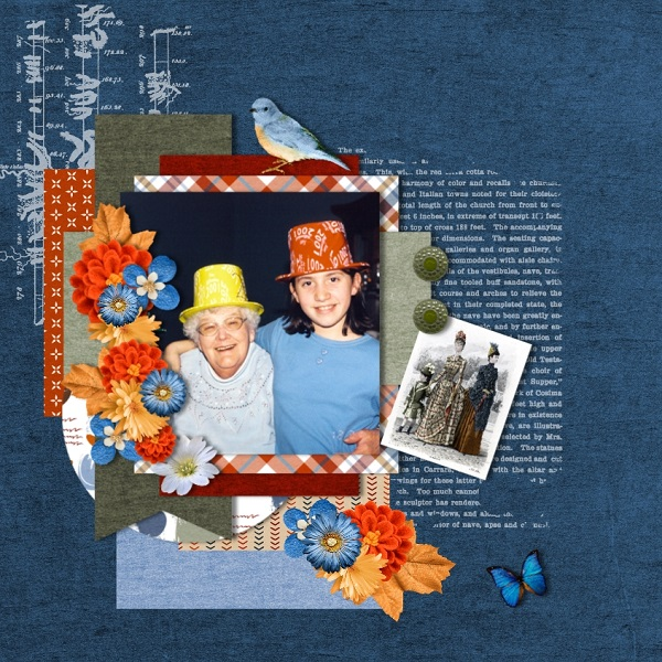 Layout by Maureen - Men in Top Hats Collection by ADB Designs