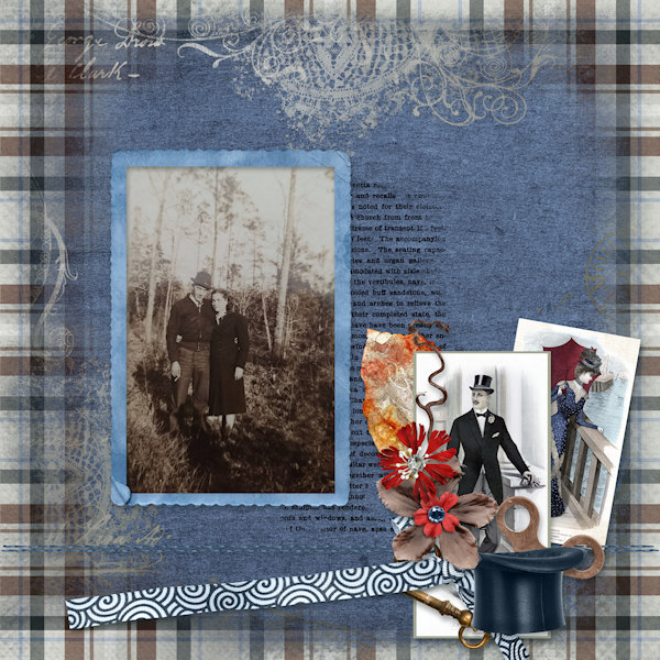 Layout by Nancy - Men in Top Hats Collection by ADB Designs