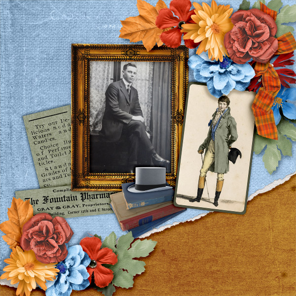 Layout by Pia - Men in Top Hats Collection by ADB Designs