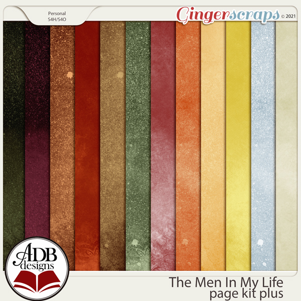 The Men in My Life Digital Scrapbooking Collection by ADB Designs