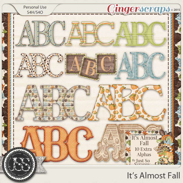33a11ae2ef6842 GingerScraps :: Alphas :: It's Almost Fall Alphabets