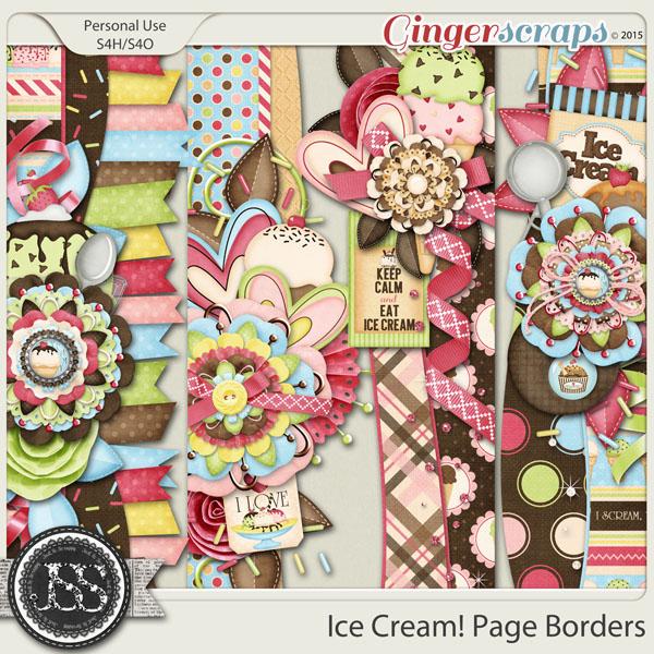 Gingerscraps Bundled Goodies Ice Cream Digital Scrapbook