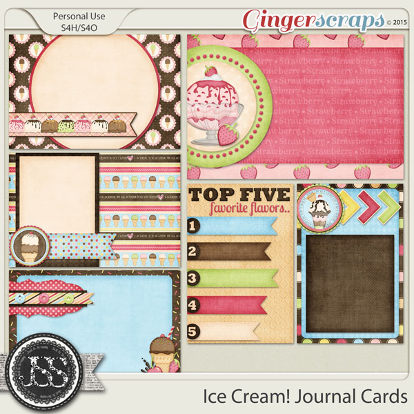 Gingerscraps Pocket Scrapbooking Ice Cream Journal And Pocket