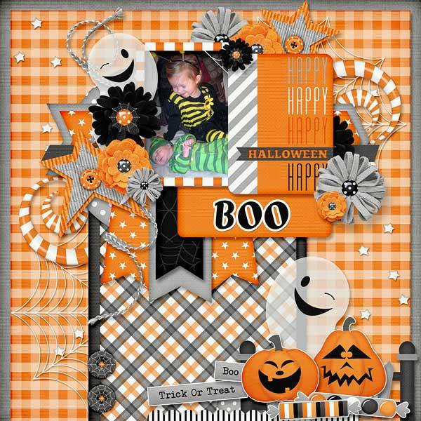 Gingerscraps Kits Spooky Halloween Digital Scrapbooking Kit