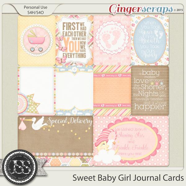 Gingerscraps Pocket Scrapbooking Sweet Baby Girl Journal And